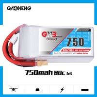 2PCS Gaoneng GNB 750MAH 6S 22.2V 80C/160C HV Lipo battery XT30 XT60 Plug for RC Airplane Helicopter Drone