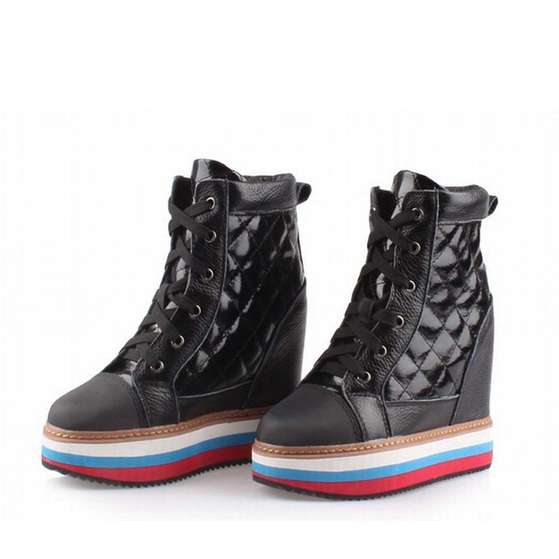 New 2017 fashion women shoes woman platform high heels height increasing zapatillas deportivas zapatos mujer womens casual shoes