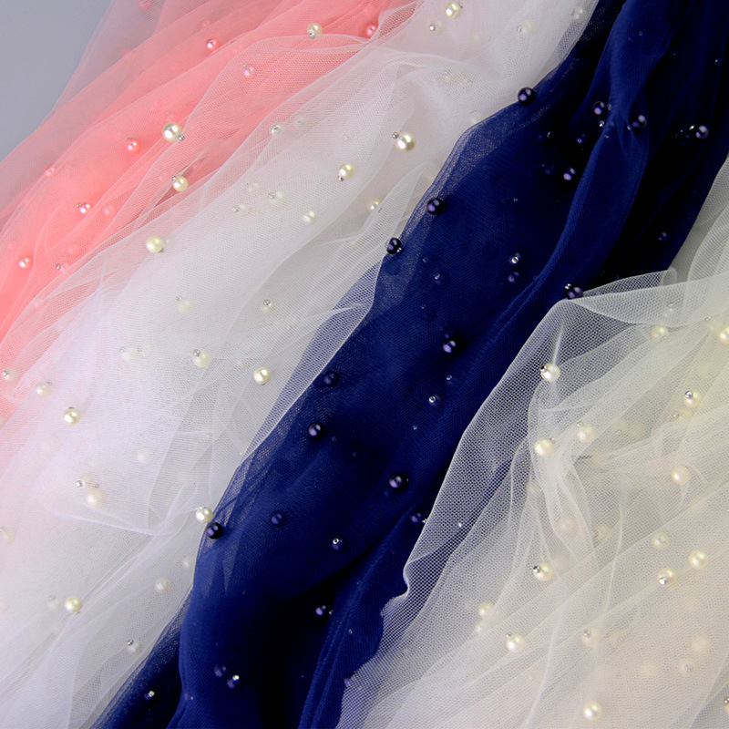 Width 150cm Sequin Pearls Tulle Fabric Pearl Mesh for Party Wedding Dress  Skirts Decoration DIY Organza Fabrics-in Fabric from Home   Garden on ... ca1801da17b7