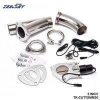"3 ""elektrische Ausschnitt/E Cut Out Ventil System W/O Schalter für Auspuff Catback/Fallrohr für Ford Focus 98 12 TK CUTYXMM30|switch switch|cutout electriccutout 3 -"