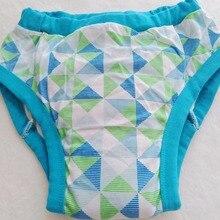 Взрослые печатные зеленые треугольные спортивные брюки/Adultbrief с подкладкой внутри/подгузники для взрослых спортивные брюки/моющиеся Взрослые спортивные брюки