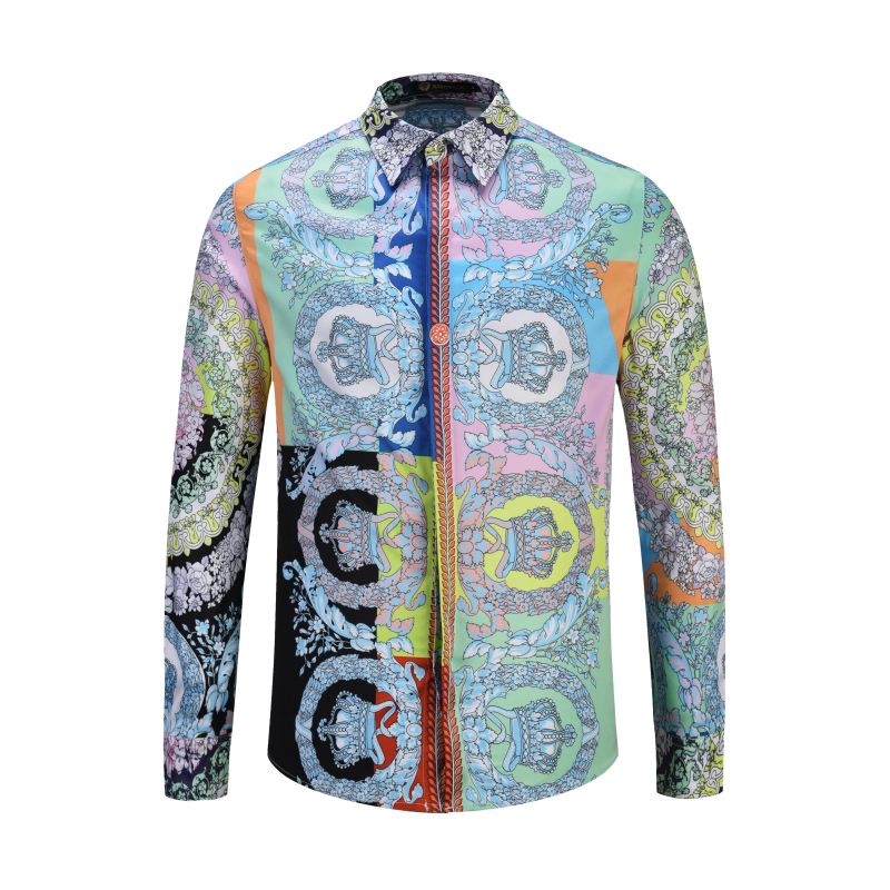 XIMIWUA 2019 Fashion Brand Men's Shirt Floral Shirts Long Sleeve Slim Fit High Quality Covered Button Casual M To 2XL