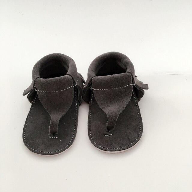 Ручной Серый Первые Ходоки Натуральная Кожа Детская обувь