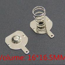 100 шт. 18650 положительные и отрицательные одиночные контактные Пружинные пластины(50 пар) 16x16,5 мм