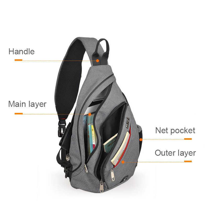 Mixi мужской рюкзак на одно плечо для мальчиков, школьная сумка для студентов, Университетская Рабочая дорожная сумка, универсальный 2019 Модный новый дизайн M5225