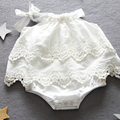 2017 New Female Baby Princess Wind Romper Summer Cotton Sleeveless Double-deck Macrame Lace Triangle Climbing Clothes Hot Sale