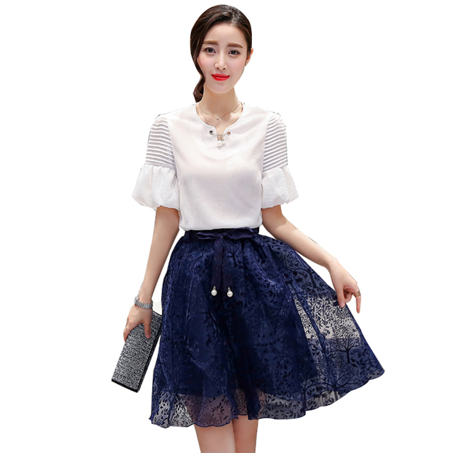 Visualizzza di più. 2018 Eleganti abiti da Sera Party Dress Vestito da  estate twinset set donne Organza Moda temperamento d6f1e0d4f20