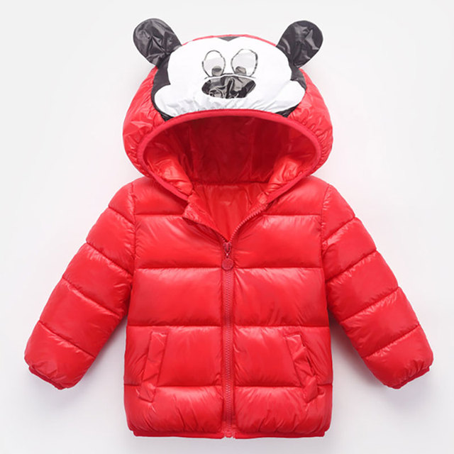 d16a195ff Children s Mickey Mouse Winter Warm Jackets Kids Duck Down Coat Baby ...
