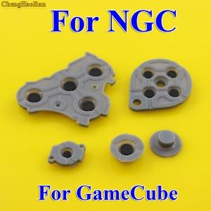 Image 1 - 2 10 Bộ Thay Thế Cho Máy Nintendo GameCube NGC Bộ Điều Khiển Dẫn Điện Nút Silicone Miếng Lót
