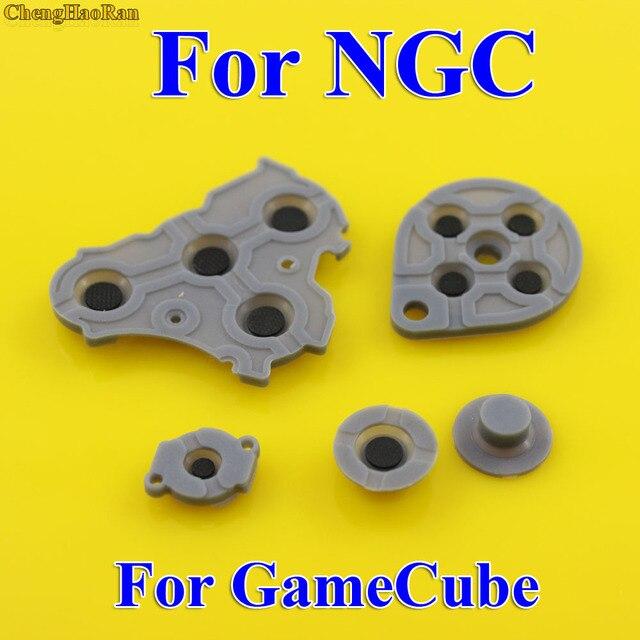 2 10 Bộ Thay Thế Cho Máy Nintendo GameCube NGC Bộ Điều Khiển Dẫn Điện Nút Silicone Miếng Lót