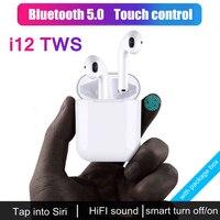 CASPTM i12 TWS Mini True Wireless 5.0 Bluetooth Earphone Sports Sweatproof Earbuds Touch Ear Binaural Call Earphones