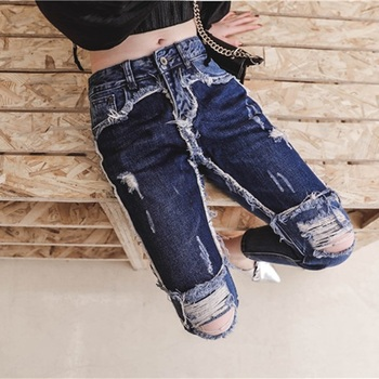 Jeans Destroyed Cropped Moda 2021 Kaal Cl