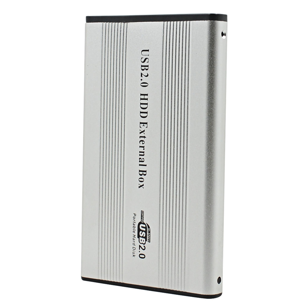 TISHRIC For 2.5 HD HDD SSD DVD External 1TB Box Hard Disk Drive Enclosure 44Pin IDE To USB 2.0 Adapter Case Container Optibay