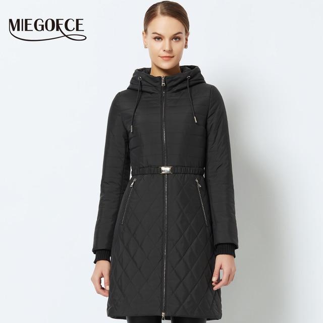 Новая весенняя- осенняя коллекция MIEGOFCE 2018 куртка женская теплая ветрозащитная с капюшоном стильная весенняя женская куртка