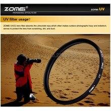 Zomei 49 мм 52 мм 55 мм 58 мм 62 мм 67 мм 72 мм 77 мм 82 мм УФ фильтр Ультрафиолетовый Фильтр Защиты Объектива для DSLR Камеры