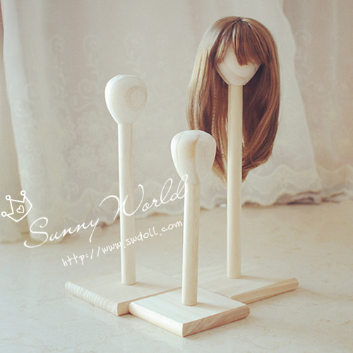 1/3 1/4 1/6 BJD Doll Wigs Doll Hair Wood Stand Rack uncle 1 3 1 4 1 6 doll accessories for bjd sd bjd eyelashes for doll 1 pair tx 03