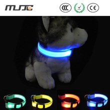 luminous collar with strip light glowing collar flash led chain dog leash accessories for dogs goods