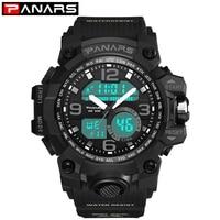 PANARS Men Digital Watches Swimming Water Resistant G Style LED Men's Watch Stopwatch Fitness Sport Wristwatch 8011 Alarm