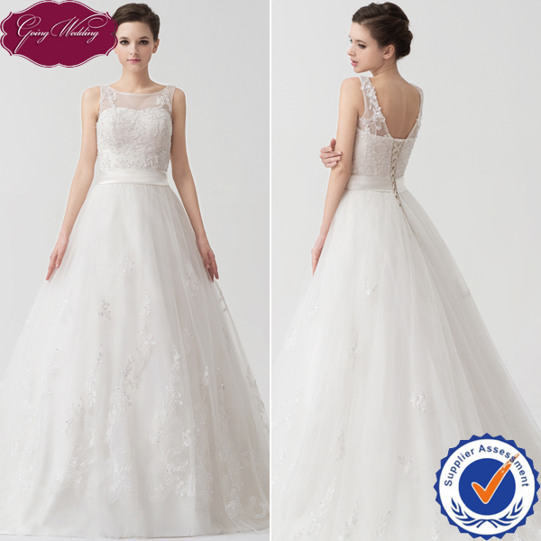 Goingwedding Real Sample Sweetheart Tulle A-Line 2014 Wedding Gown Big Skirts Online China Custom Made Dress W24060 - GoingWedding store