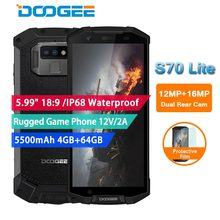"""DOOGEE S70 Lite IP68 Waterproof Rugged Game mobile Phones Android 8.1 Helio P23 Octa Core 5.99"""" 18:9 4GB 64GB 5500mAh 13MP+8MP"""