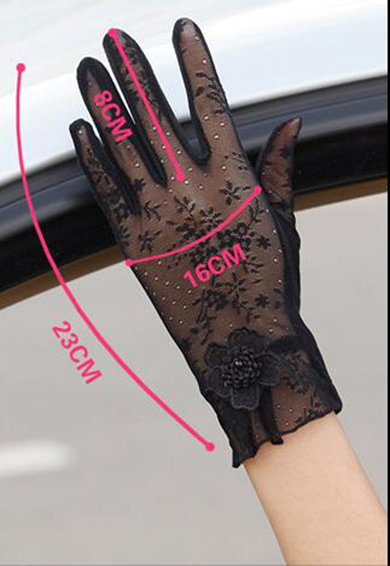 HTB1bRmHQFXXXXXvXpXXq6xXFXXXT - Sexy Summer Women UV Sunscreen Short Sun Female Gloves Fashion Ice Silk Lace Driving Of Thin Touch Screen Lady Gloves G02E