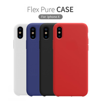For Iphone X Funda Case Cover 5 8 Inch Nillkin Liquid Smooth Silicone Protective Shell Protector