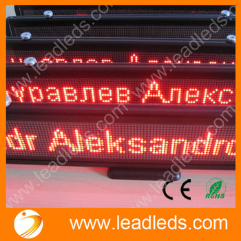 Red LED Light USB Programmable LED Car Display DC12V LED Sign Module Support Scrolling Text LED Advertising Display Screen