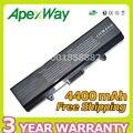 Apexway batería de 6 celdas para dell inspiron 1525 1526 1545 m873 d608h gw240 m911g rn873 xr693 x284g 451-10478 451-10533 c601h