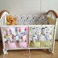 Cama de bebé Colgando Bolsa de Almacenamiento de Colores Multi árbol de muselina Bebé Colgar Bolsas de Almacenamiento de ropa de Cama de Bebé Cuna Bumpers 55*60 cm