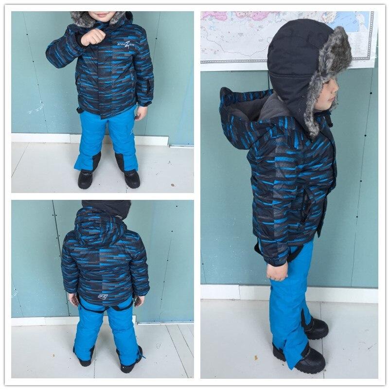 Mingkids småbarn Pojke Snöbyxa Utomhus Skiduppsättning Vinter Varm - Barnkläder - Foto 3