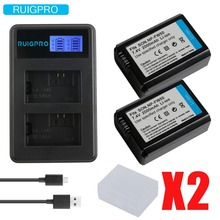 Ruigpro 2000mAh NP-FW50 NP FW50 Camera Battery + LCD USB Dual Charger for Sony Alpha a6500 a6300 a6000 a5000 a3000 NEX-3 a7R 1pcs np fw50 np fw50 camera battery lcd usb dual charger for sony alpha a7r2 a6500 a6300 a6000 a5100 a5000 a3000 nex 5t 5t 5r