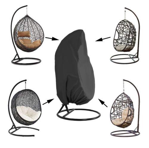 Hanging Swing Chair Cover Waterpoof Rattan Egg Seat Protect Outdoor Garden Patio