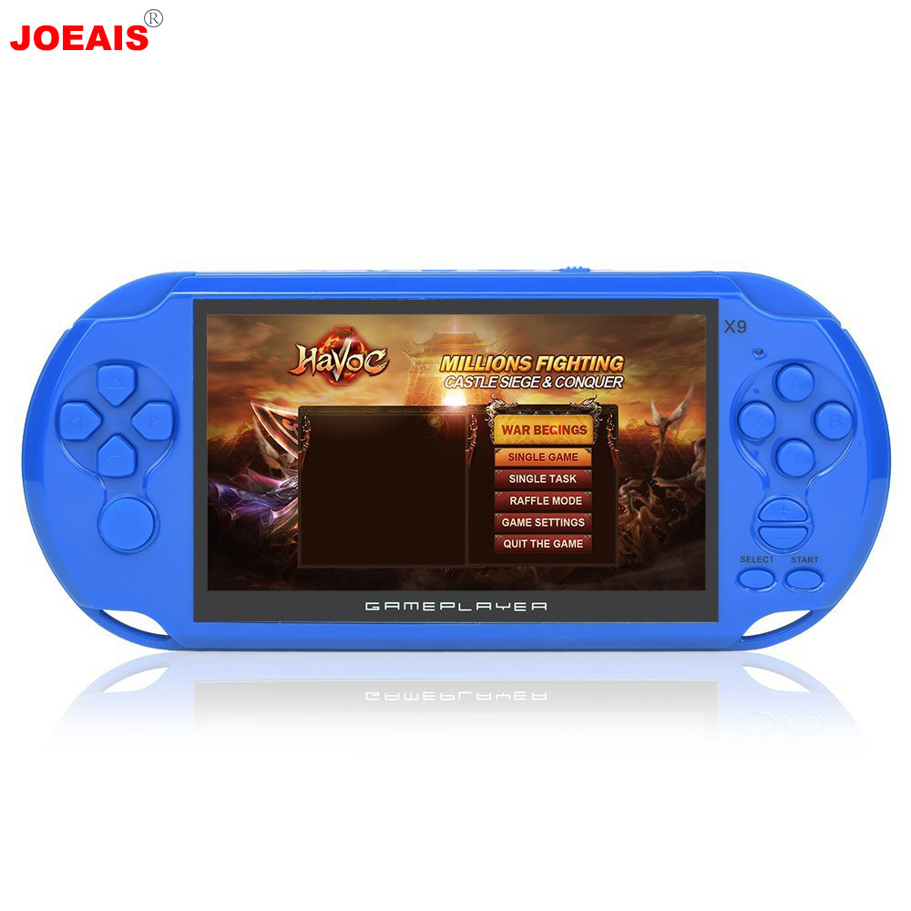 JOEAIS Handheld Game Console Game Player 5.0 inch 3000 Games 8GB System Portable Video Games Best Gifts for Boys Kids Children 2 5 inch tft display handheld game player 8 bit video game