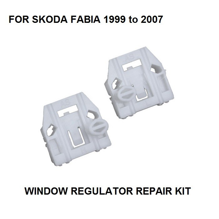VW POLO WINDOW REGULATOR REPAIR METAL ROLLER CLIPS OSF FRONT RIGHT