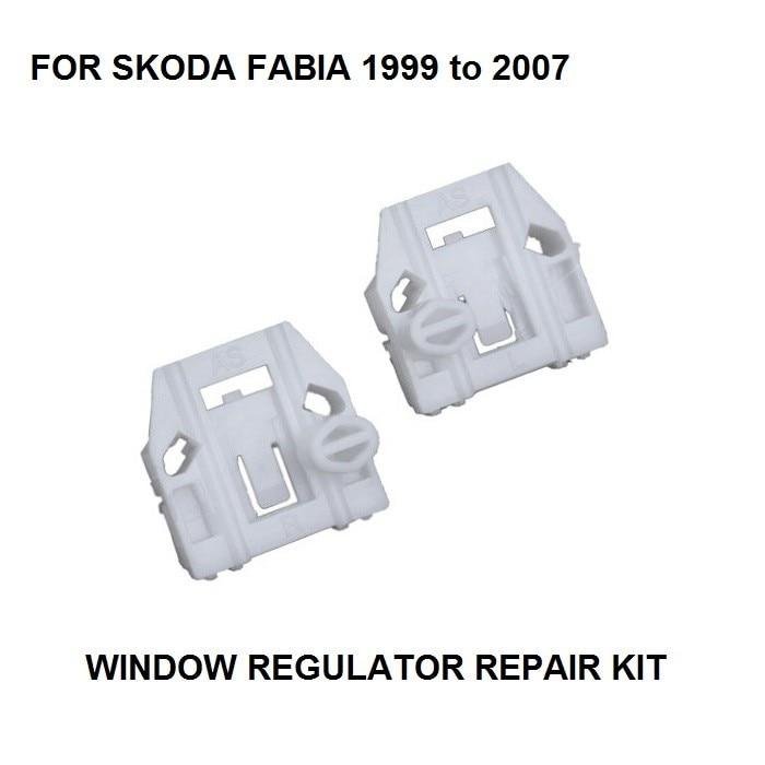 WIDNOW REGULATOR FOR SKODA FABIA ELECTRIC WINDOW REGULATOR CLIP KIT FRONT-LEFT 1999-2007