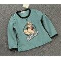 Ins Patter Cereja Popeye Meninos Tshirt Plissado Camisa do Raglan T crianças Roupas Meninas T-shirt Roupas Feitas De Algodão O Pescoço Cicishop