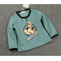Ins Patter Cherry Popeye Boys Tshirt Ruffle Raglan T Shirt Kids Clothing Girls Tees Clothes Made Of Cotton O Neck Cicishop