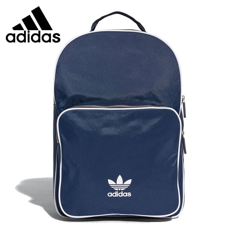 adidas Originals Adicolor Blue Red Backpack Unisex Classic Shoulder Sports Bag