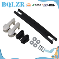 BQLZR Luggage Carry Plastic Handle With Screws Caps 18cm Black Strap Handle