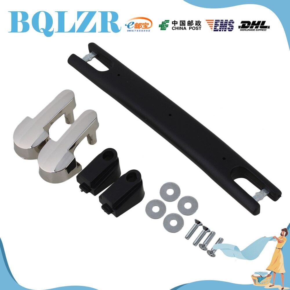 BQLZR Luggage Carry Plastic Handle with Screws Caps 18cm Black Strap Handle 2pieces diy bqlzr 9 1cmx10 7x4 9cm black plastic left