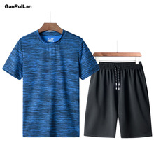 2019 Brand New Men's Short Sportwear Suit Summer Designer Printing Breathable Casual Short Set Men Leisure Suits TZ1902