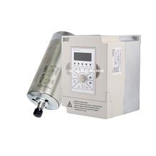 1.5kw water cooled spindle motor ER11 D80mm L188mm AC220V & 1.5kw 220v BEST VFD Inverter Variable Frequency Drive стоимость