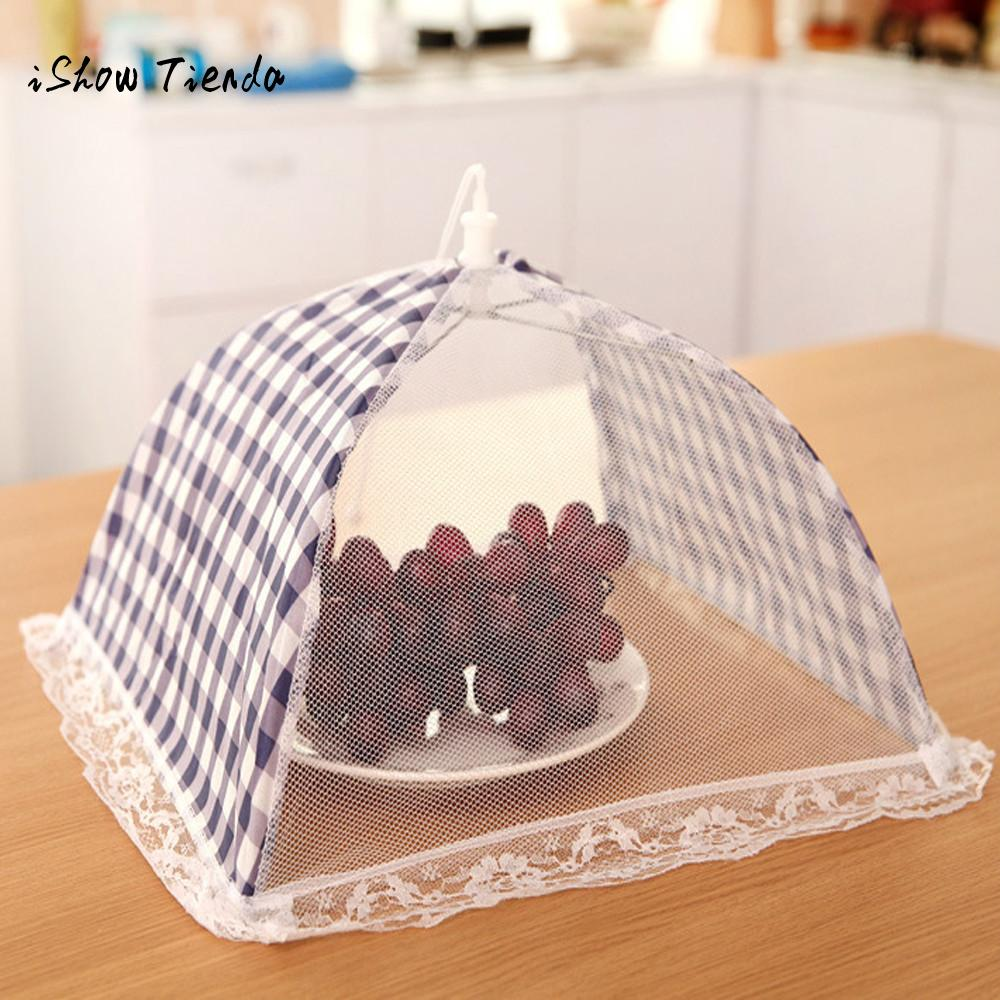 Kitchen Food Cover Umbrella Shaped Picnic Barbecue Cooking Party Fly Mosquito Resistant Mesh Net Tent table mesh food covers алиэкспресс сумка прозрачная