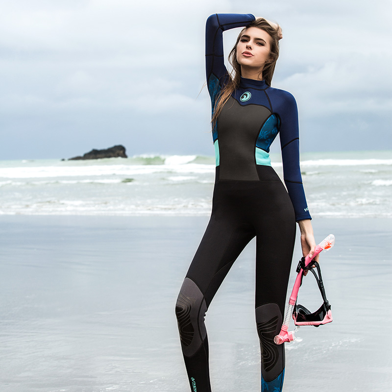 1.5MM Neoprene Diving Wetsuits for Women Long Sleeve Scuba Diving Suits  Swimwear Snorkeling Jumpsuit Rash. sku  32890956804 42975c942