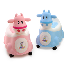 Baby Potty Cartoon Cow Baby Toilet Seat Children's Potty Multifunction Potty Chair Girls Boy Trainer Toilet Seat cartoon baby boy girls folding toddler potty toilet trainer safety seat chair step with adjustable ladder training penico toilet
