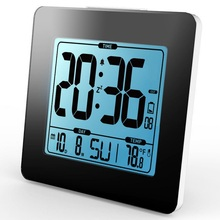 Cheaper Digital Alarm Clock Thermometer LCD blue Backlight Calendar Indoor Temperature Meter Watch Desk Snooze Timer Kids Table Clock