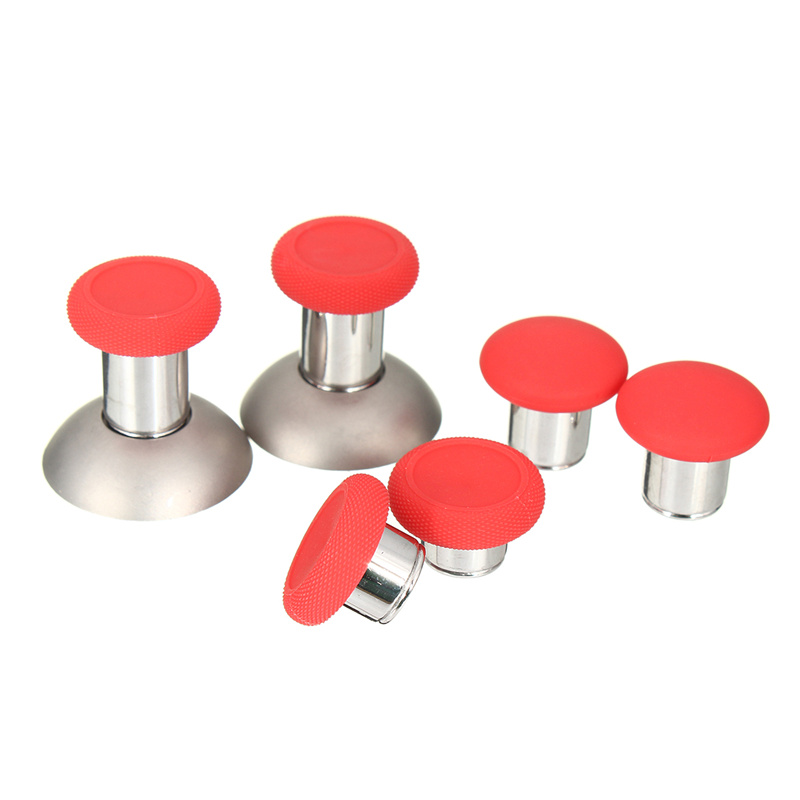 New Red Elite Swap 8pcs/lot Thumbstick Analog Grips Replacement Grip Caps for <font><b>Xbox</b></font> One Gaming Controllers Joystick Gamepad
