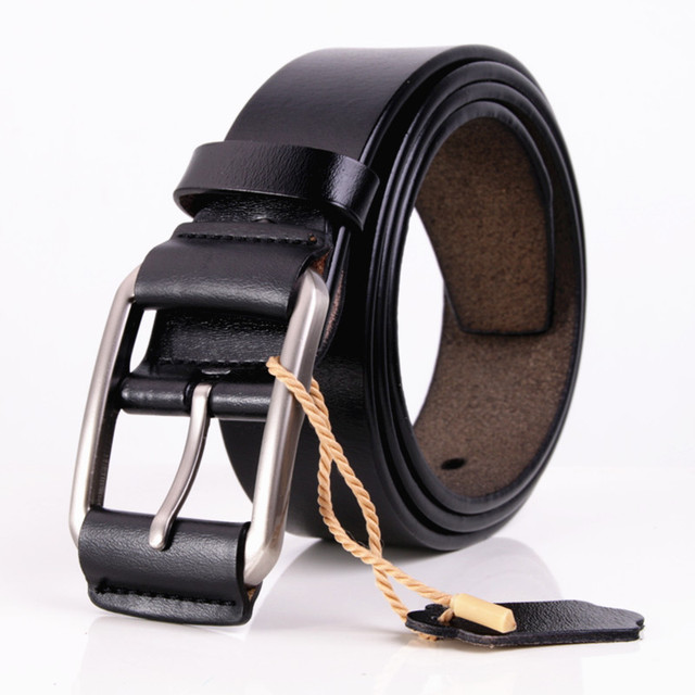 Men's Classic Genuine Split Leather Belt. Available Colors – Black and Coffee