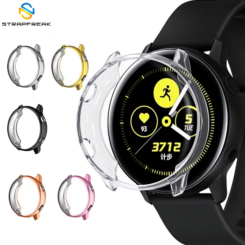 Full Protector Case For Samsung Galaxy Watch Active Watch Ultra-thin TPU Screen Protection Frame For Galaxy Watch Active SM-R500