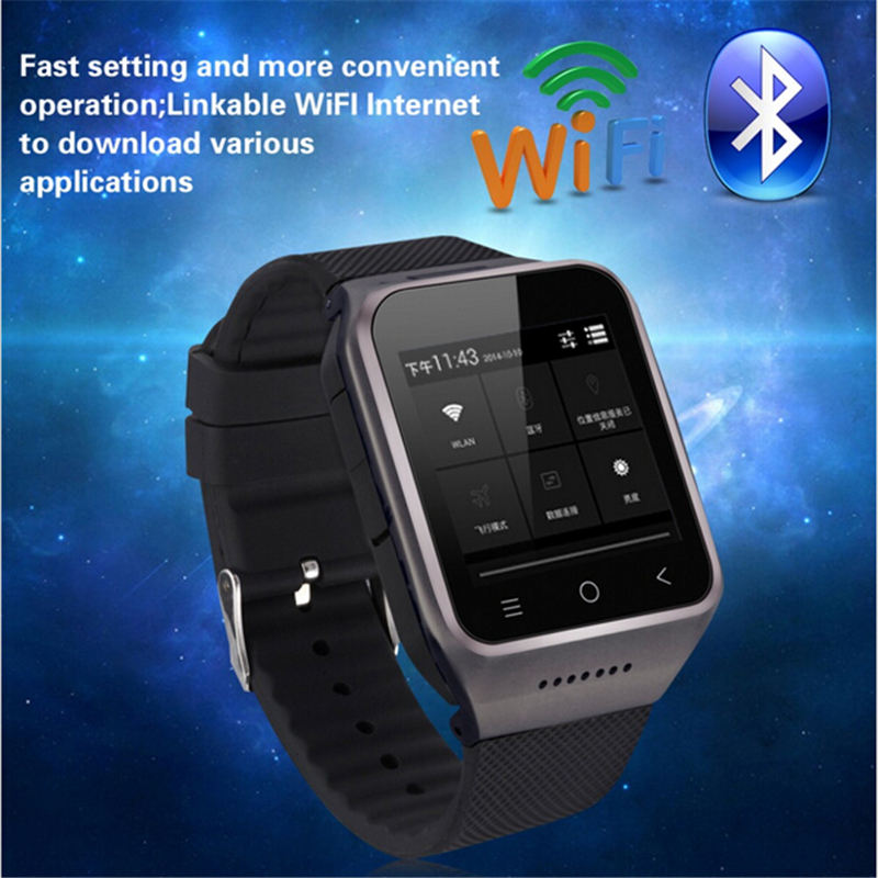 ZGPAX 1.54 Inch 3G Android 4.4 MTK6572 Dual Core Phone Watch 2.0MP Camera WCDMA GSM Smart Watch with Email GPS WIFI pk s99 x1